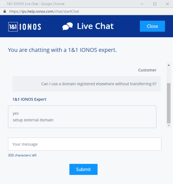 1 & 1-ionos-resensie-live-chat