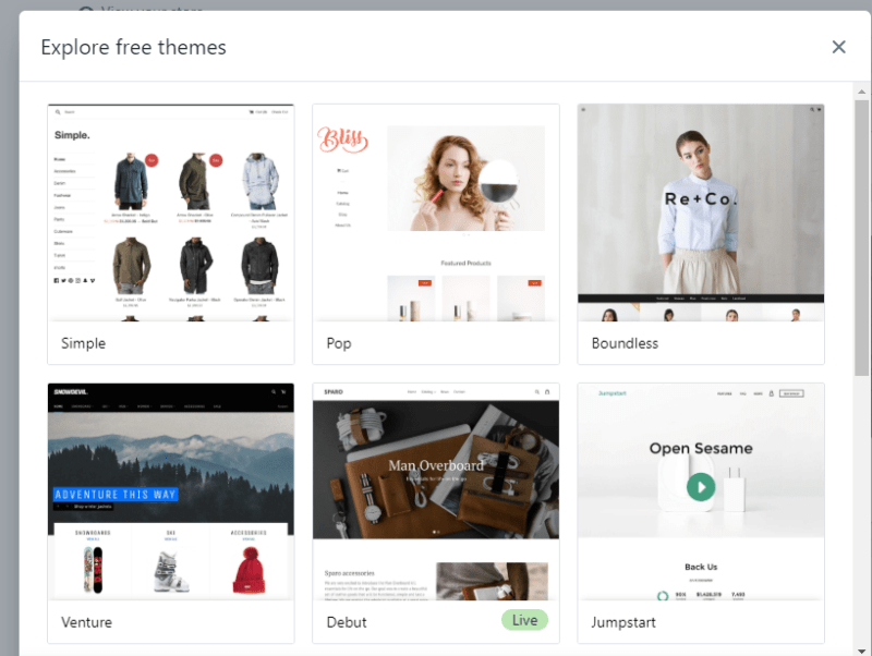 Shopify-Explore-Free-Themes