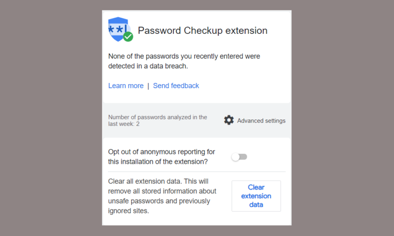 PasswordCheckup
