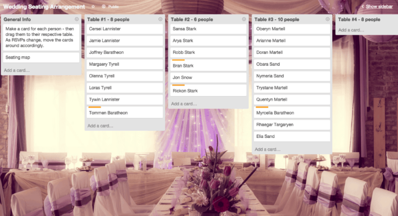 Trello-wedding