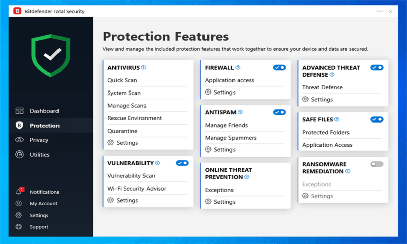 BitDefender-Features