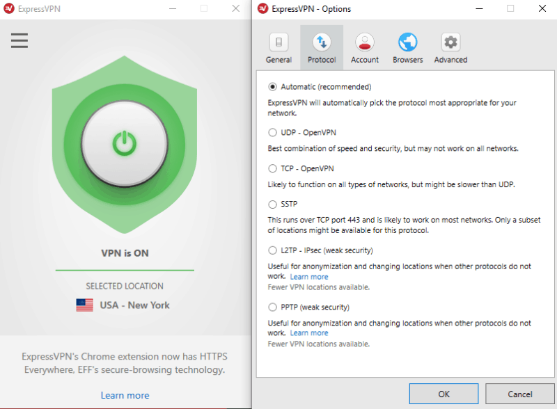 expressvpn review-protocol-optioner