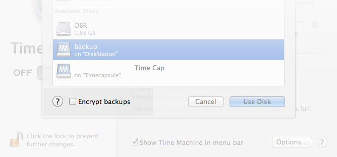 Time Machine Backup Şifrələmə