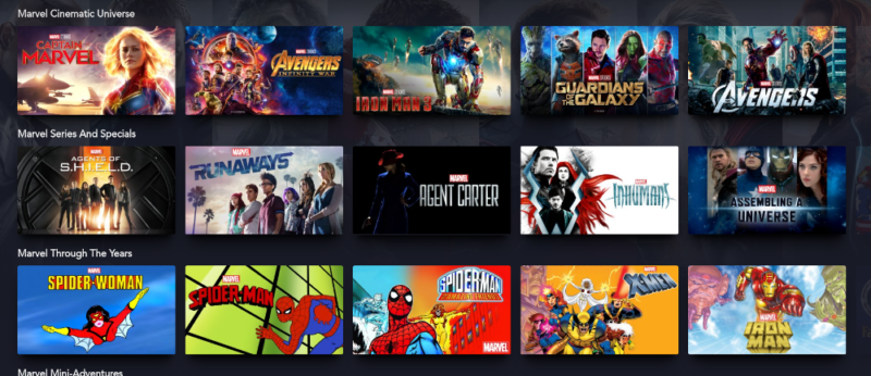 Disney + -marvel