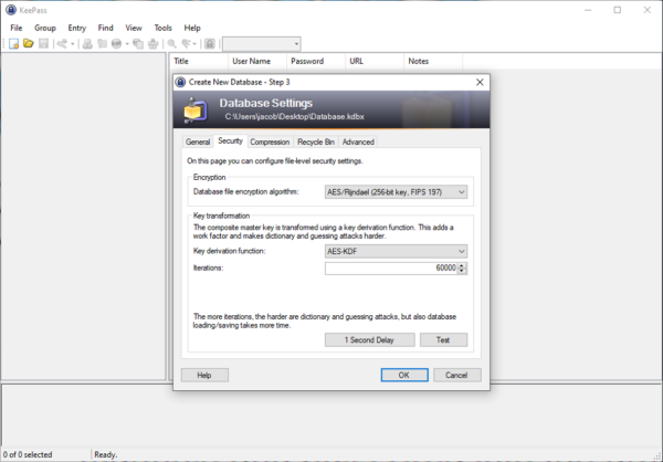 keepass-database-settings