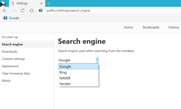 Puffin-SearchEngines