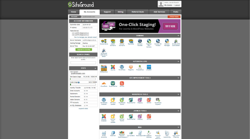 siteground-review-cpanel