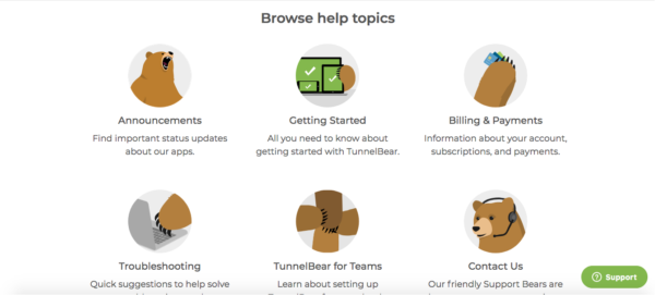 TunnelBear-Knowledgebase