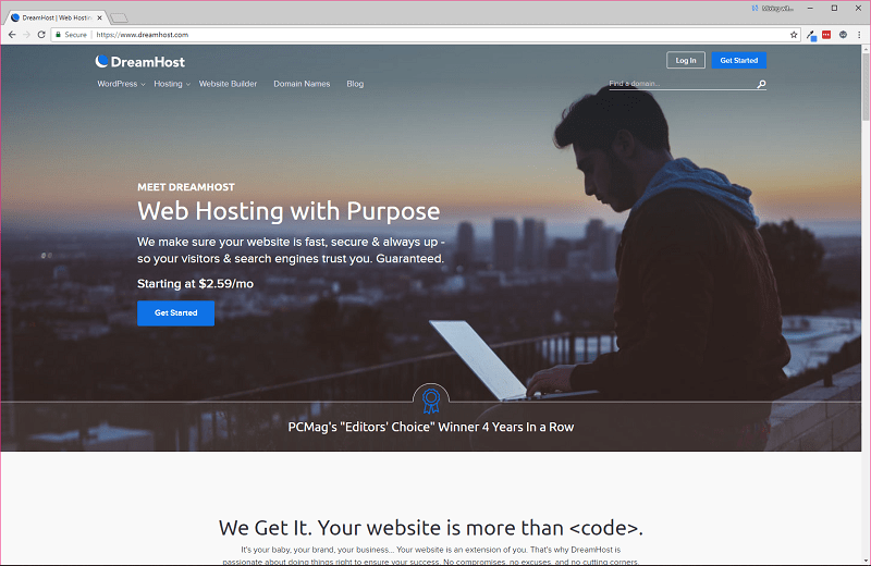 Dreamhost-Homepage